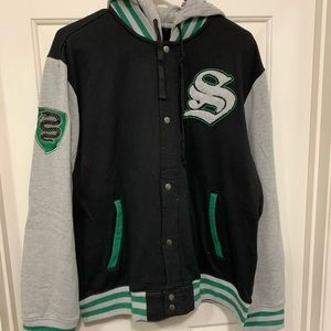 Harry potter slytherin button up jacket